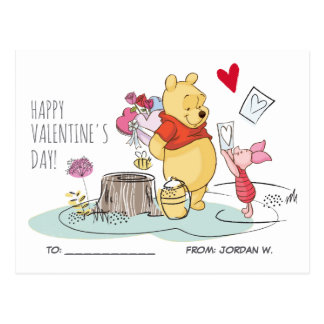 Winnie the Pooh & Piglet | Sweet Like Honey Postcard