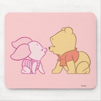Winnie The Pooh Pooh and Piglet crawling Mouse Pad