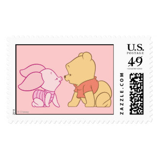 Winnie The Pooh Pooh and Piglet crawling Postage Stamp