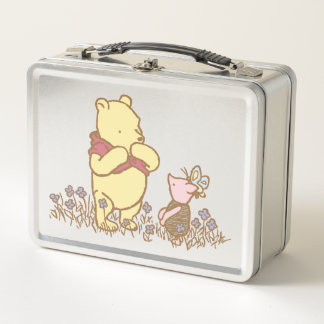 Winnie the Pooh | Pooh and Piglet in Field Classic Metal Lunch Box