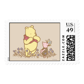 Winnie the Pooh   Pooh and Piglet in Field Classic Postage