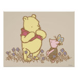 Winnie the Pooh   Pooh and Piglet in Field Classic Poster