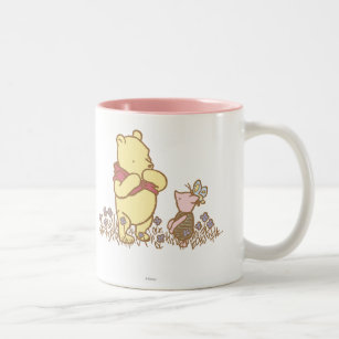 Winnie the Pooh   Pooh and Piglet in Field Classic Two-Tone Coffee Mug