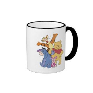 Winnie the Pooh Pooh Piglet Tigger Eeyore Ringer Mug