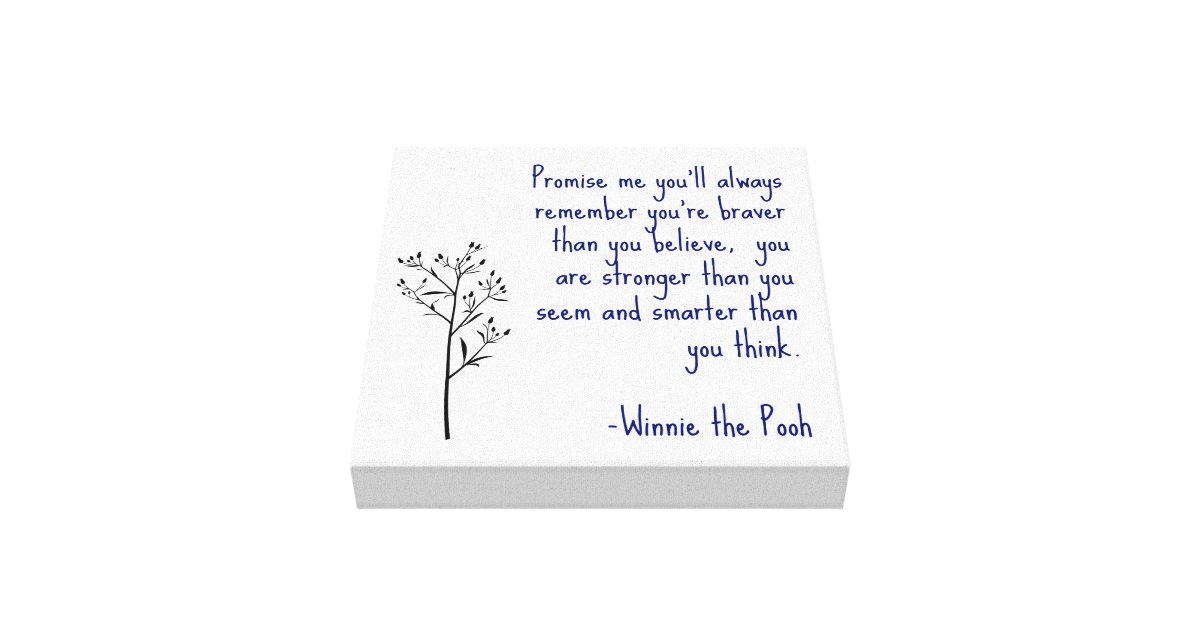Winnie the Pooh Quote Canvas Art Inspirational Art | Zazzle