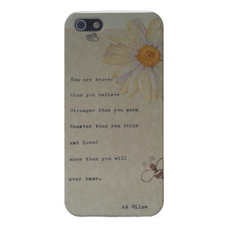 Winnie the Pooh Quote, original design Cover For iPhone SE/5/5s