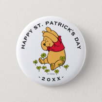 Winnie the Pooh - Shamrock | St. Patrick's Day Pinback Button