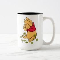 Winnie the Pooh - Shamrock | St. Patrick's Day Two-Tone Coffee Mug