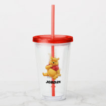 Winnie the Pooh Sitting|  Add Your Name Acrylic Tumbler