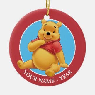 Winnie the Pooh | Sitting Add Your Name Ceramic Ornament