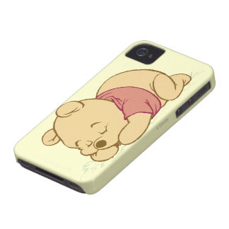 Winnie the Pooh Sleeping iPhone 4 Case-Mate Case