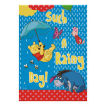 Winnie the Pooh | Such a Rainy Day Poster