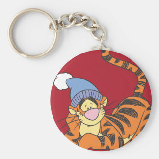 Winnie the Pooh Tigger con el gorra Llavero Redondo Tipo Pin