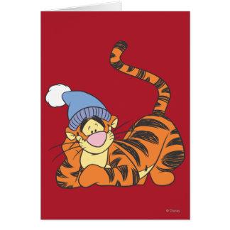 Winnie the Pooh Tigger con el gorra Felicitacion