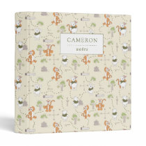 Winnie the Pooh | Tigger & Pooh Forest Pattern 3 Ring Binder