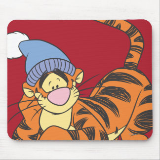 Winnie The Pooh Tigger with hat Mouse Pad