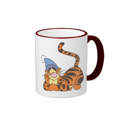 Winnie The Pooh Tigger with hat Ringer Mug