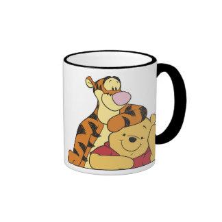 Winnie the Pooh Tigger y bah mejores amigos Taza De Dos Colores