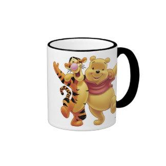 Winnie the Pooh Winne y Tigger Taza De Dos Colores