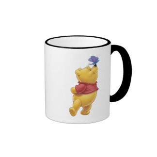 Winnie the Pooh With Butterfly Coffee Mugs