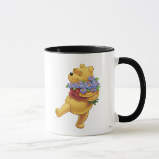 Winnie the Pooh with Flowers Mug