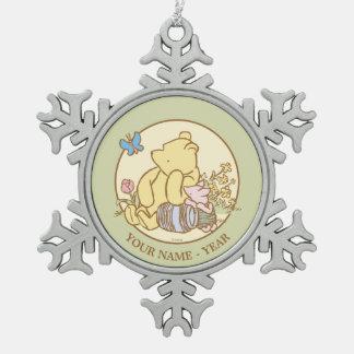Winnie the Pooh y cochinillo clásicos 1 Adorno De Peltre En Forma De Copo De Nieve