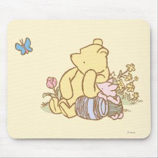 Winnie the Pooh y cochinillo clásicos 1 Tapetes De Raton