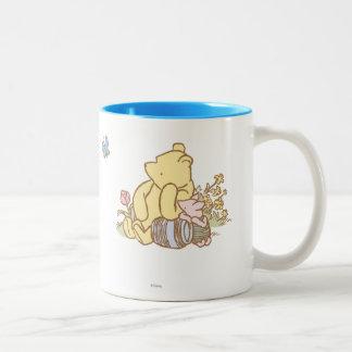 Winnie the Pooh y cochinillo clásicos 1 Taza De Café De Dos Colores
