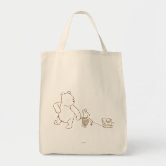 Winnie the Pooh y cochinillo clásicos 2 Bolsa Tela Para La Compra