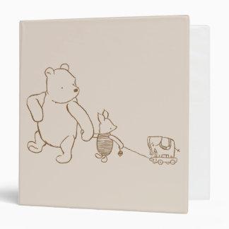 """Winnie the Pooh y cochinillo clásicos 2 Carpeta 1 1/2"""""""
