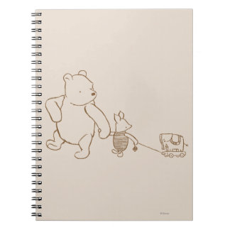 Winnie the Pooh y cochinillo clásicos 2 Spiral Notebooks
