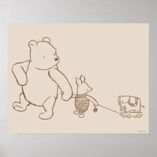 Winnie the Pooh y cochinillo clásicos 2 Póster