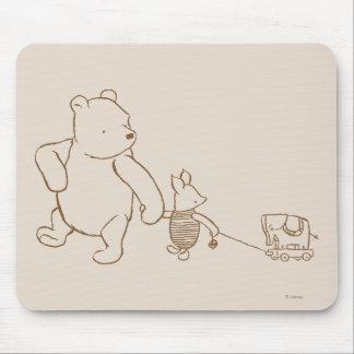 Winnie the Pooh y cochinillo clásicos 2 Alfombrillas De Raton