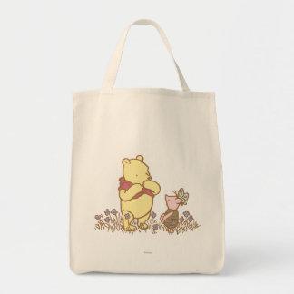 Winnie the Pooh y cochinillo clásicos 3 Bolsa Tela Para La Compra