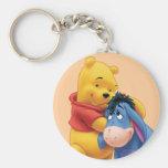 Winnie the Pooh y Eeyore Llavero Redondo Tipo Pin