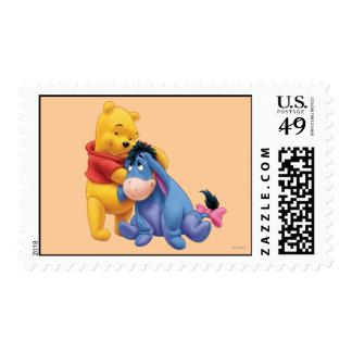 Winnie the Pooh y Eeyore Sellos Postales