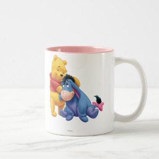 Winnie the Pooh y Eeyore Taza De Café De Dos Colores