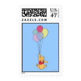 Winnie the Pooh y globos Estampilla