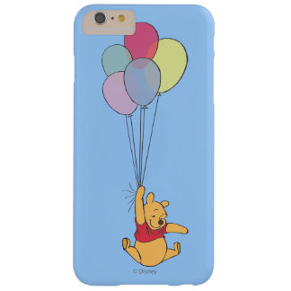 Winnie the Pooh y globos Funda Barely There iPhone 6 Plus