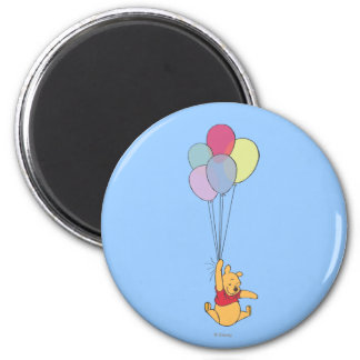 Winnie the Pooh y globos Imán Redondo 5 Cm