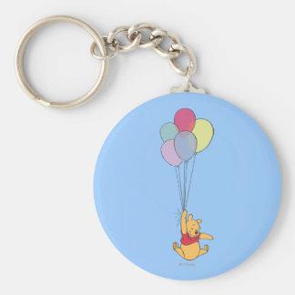 Winnie the Pooh y globos Llavero Redondo Tipo Pin