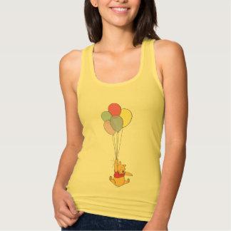 Winnie the Pooh y globos Playera De Tirantes Cruzados