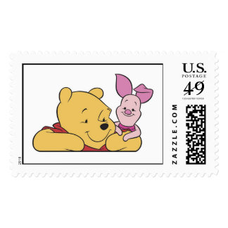 Winnie The Pooh's Pooh and Piglet together Postage Stamp