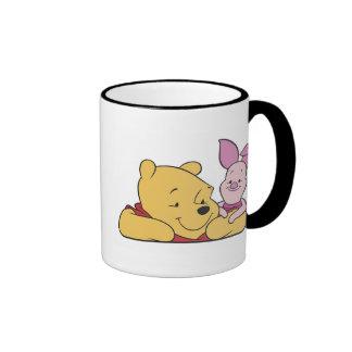 Winnie The Pooh's Pooh and Piglet together Ringer Mug