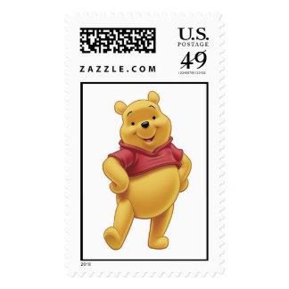 Winnie The Pooh's Pooh Walking Merrily Postage Stamp