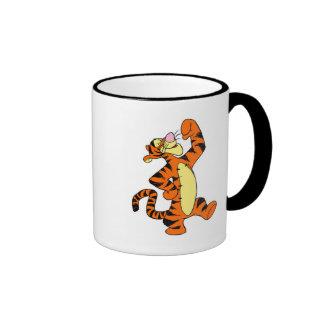 Winnie The Pooh's Tigger walking merrily Ringer Mug