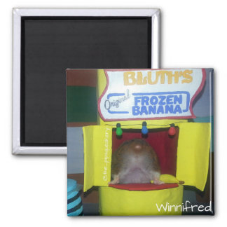 Winnifred! That's not very polite! 2 Inch Square Magnet