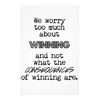 Winning and Consequences Stationery
