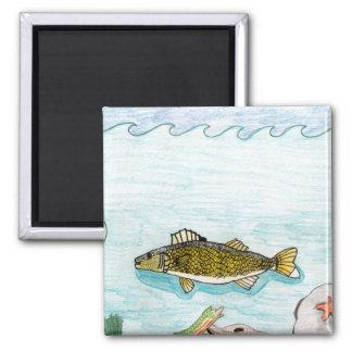 Winning art by  B. Smith - Grade 6 2 Inch Square Magnet