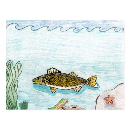 Winning art by  B. Smith - Grade 6 Postcard